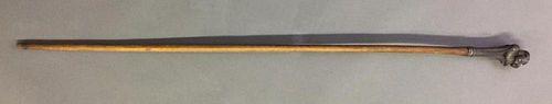 Black Metal Tipped Walking Stick
