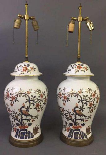 Pair of Imari Style Table Lamps