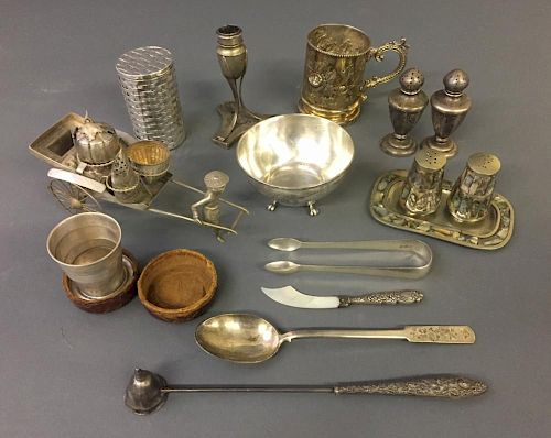 Silver and Silver Plate Grouping