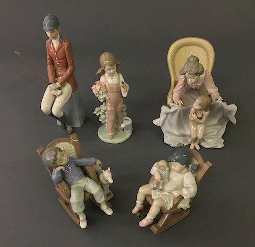 Five Lladro Porcelain Figurines