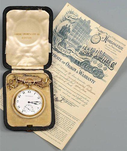 18K Patek Philippe Men's Pocket Watch