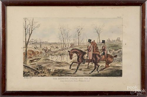Set of four fox hunting lithographs, after H. Alken, 7 3/4'' x 12 1/2''.