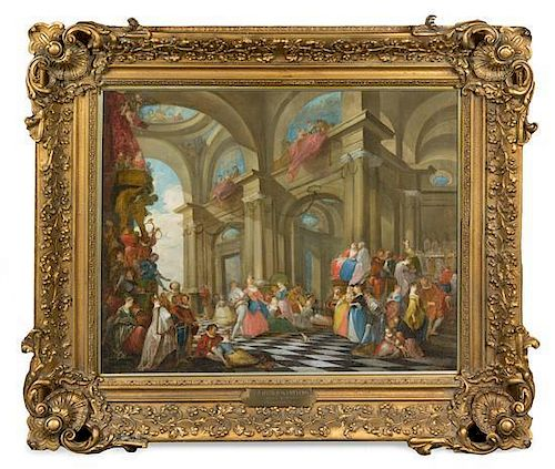 Attributed to Michel Barthelemy Ollivier, (French, 1712-1784), Une fete Venitienne