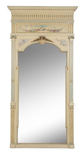 A French Neoclassical Style Painted Mirror