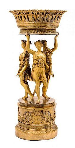 An Empire Gilt Bronze Centerpiece