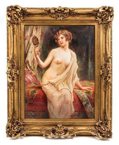 Abel Dominique Boye, (French, 1864-1934), Femme au miroir