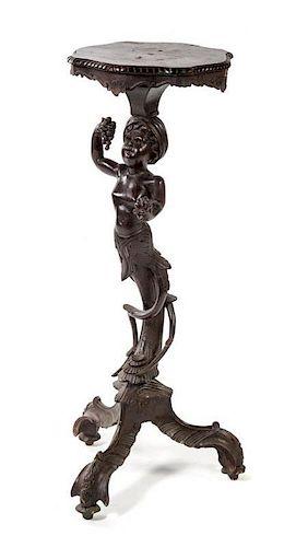 A Venetian Carved Figural Pedestal