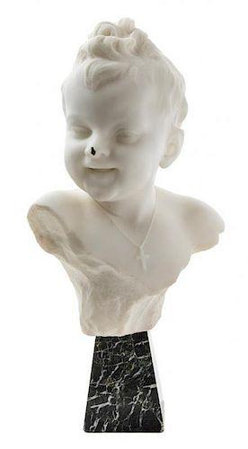 Emilio Fiaschi, (Italian, 1858-1941), Bust of a Young Boy