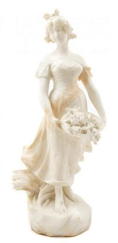 * A Continental Marble Figure Height 21 inches.