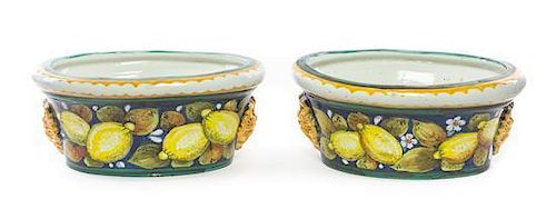 A Pair of Italian Majolica Basins