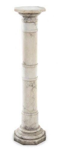 * A Continental Marble Pedestal