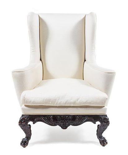 * An Italian Renaissance Style Wingback Armchair