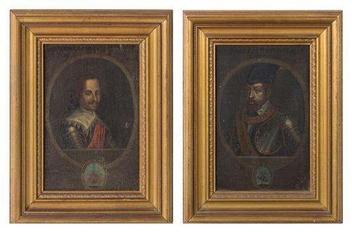 Continental School, (17th Century), Portrait of Ferdinand II and Ferdinand III (pair of works)