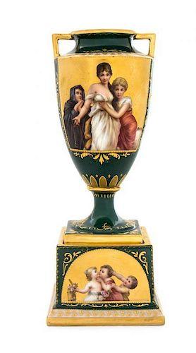 A Vienna Porcelain Urn