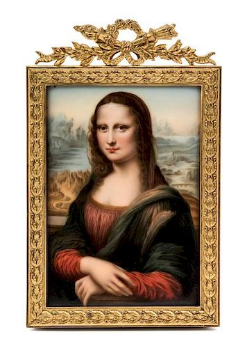 * A Hutschenreuther Porcelain Plaque Height 6 x width 4 1/4 inches.