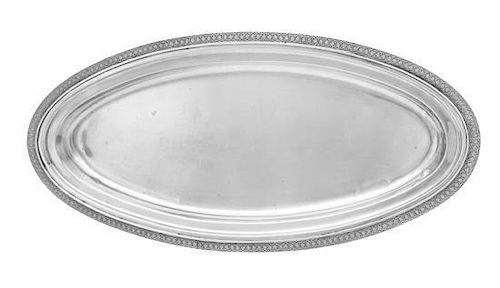 * An American Silver Serving Platter, Tiffany & Co., New York, NY, of oval form.