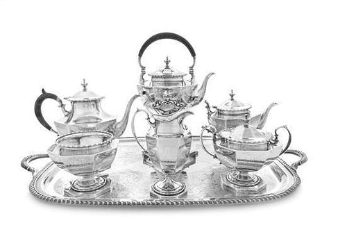 * An American Silver Six-Piece Tea and Coffee Service