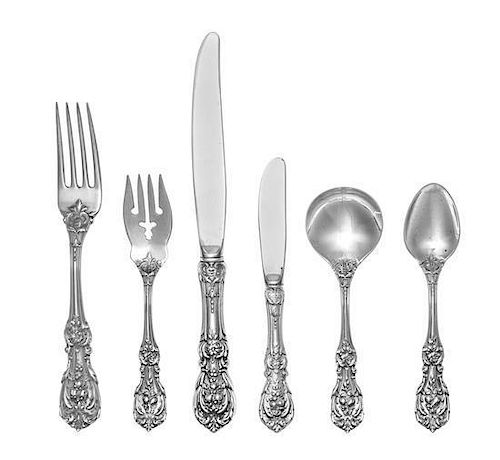 * An American Silver Flatware Service, Reed & Barton, Taunton, MA, Francis I pattern, comprising: 12 dinner knives 12 dinner