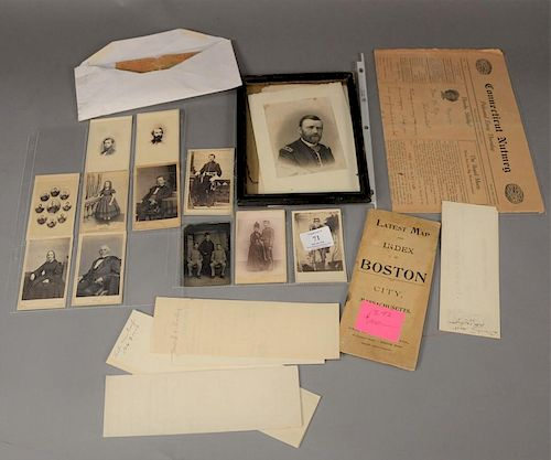 Lot With Ten Cartes De Visite One Tin Type Rebel Soldiers Two