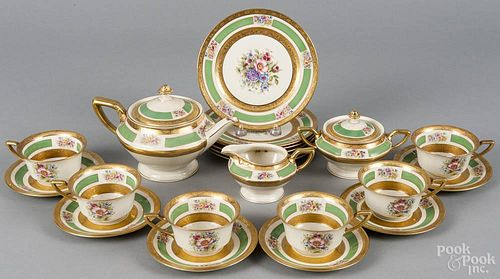 Twenty-one piece Rosenthal Ivory porcelain dessert service, 20th c.