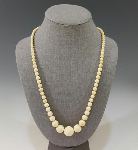 ANTIQUE CARVED BEADS NECKLACE