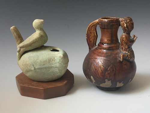 TWO OF CHINESE ANTIQUE FIGURE OF POT