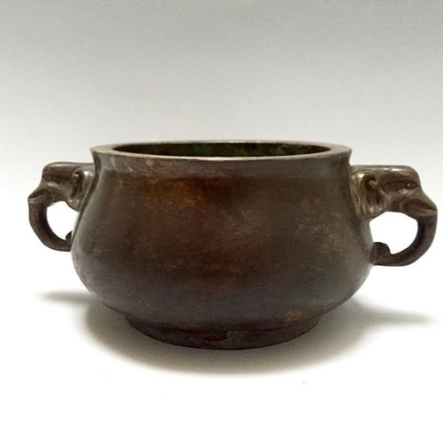 A CHINESE BRONZE CENSER, 18TH CENTURY OR EARLIER