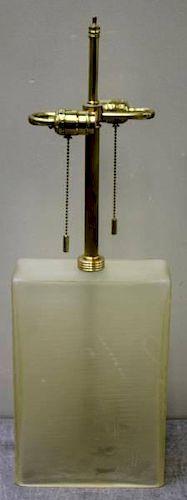 Midcentury Donghia Glass Block Table Lamp.