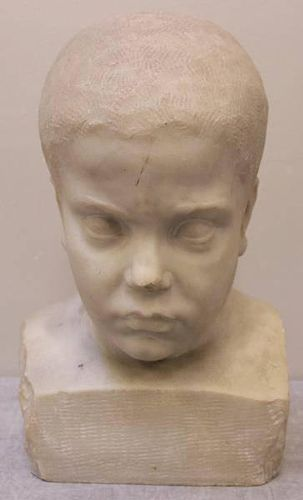 Marble/Stone Bust of a Child.