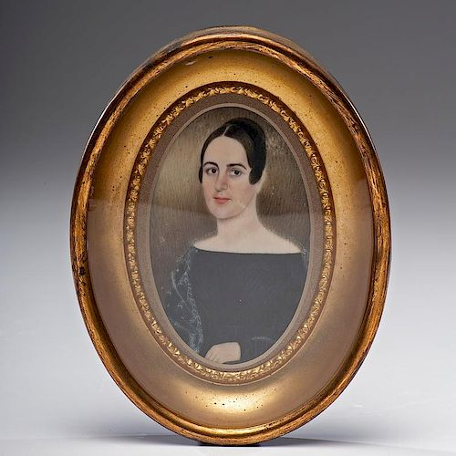 American Miniature of a Woman on Ivory