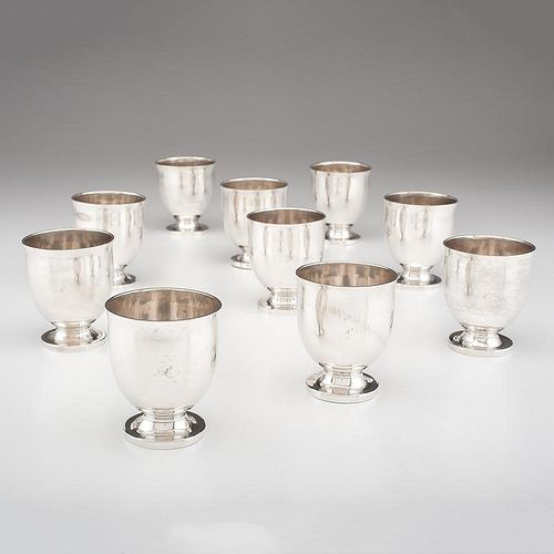 <i>Hall, Hewson & Co.</i> Coin Silver Punch Cups