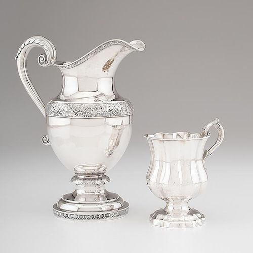 <i>Fletcher & Gardiner</i> Coin Silver Pitcher and Cup