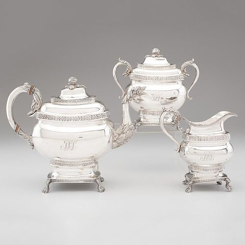 Coin Silver Tea Service, William Miller