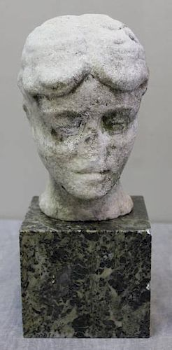 Antique Marble Fragment Bust.