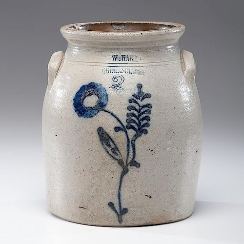 New York <i>W. Hart</i> Stoneware Crock