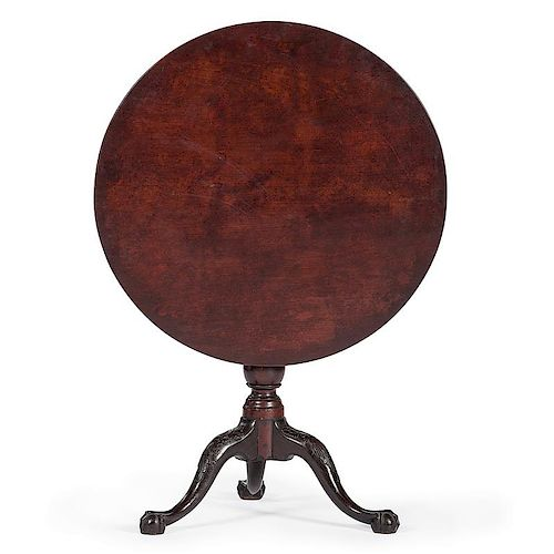 New York Chippendale Tilt Top Table