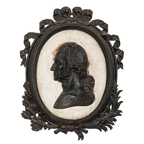 Cast Iron Bas-Relief Portrait Plaque of George Washington