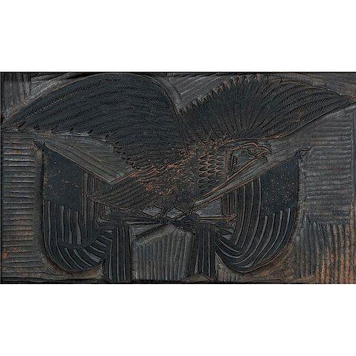 Patriotic Eagle Printing Block