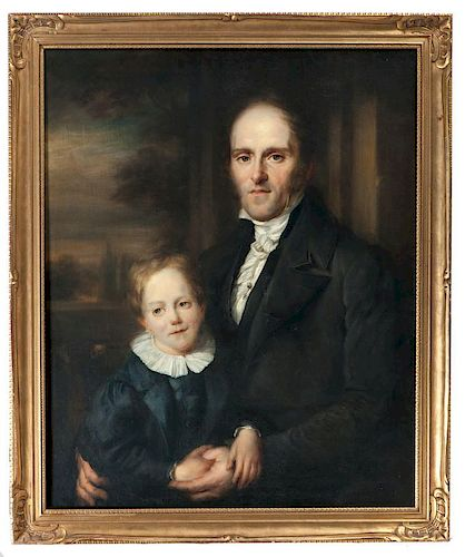 Attributed to John Vanderlyn, Portrait of Father and Son