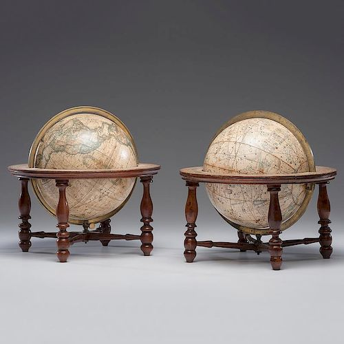<i>Merriam & Moore</i> Terrestrial and Celestial Tabletop Globes