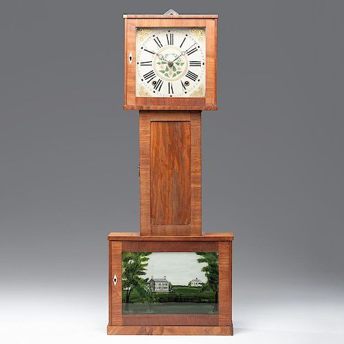 Terry Banjo Clock with Wooden Works