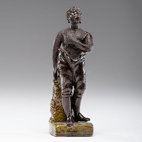An Exceptional and Early African American Staffordshire Figure