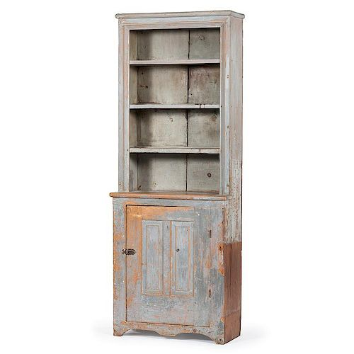 Painted Pewter Cupboard