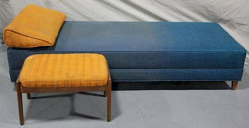 Midcentury Daybed / Chaise Together with Ottoman.