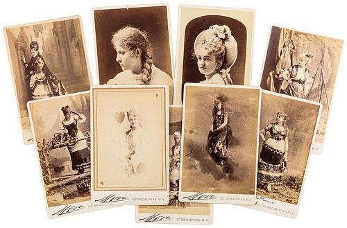 [EARLY NEW YORK SOCIALITE PHOTOGRAPHY] AN FCDC FANCY BALL ALBUM WITH ANTIQUE CABINET PHOTOGRAPHS OF NEW YORK SOCIALITES INCLU