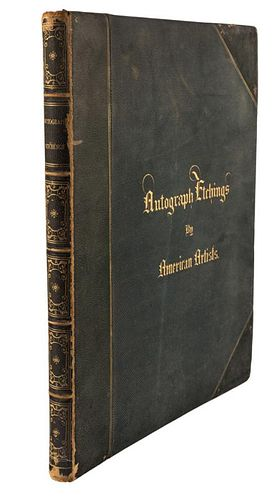 AUTOGRAPH ETCHINGS BY AMERICAN ARTISTS, 1859