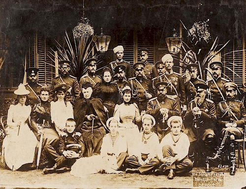 PHOTOGRAPH OF THE RUSSIAN IMPERIAL FAMILY, DE JONGH FRERES, NEUILLY-PARIS,1892