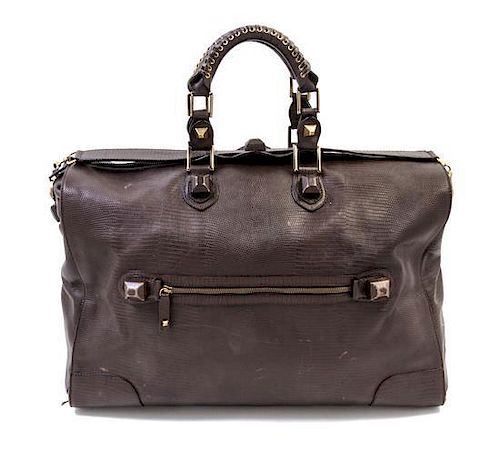 dbf2ce03f9 A Balenciaga Dark Brown Leather Duffle Bag, 20