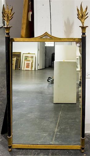 An Italian Neoclassical Style Mirror Height 51 1/4 x width 28 inches.