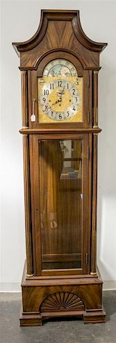 * A Herschede Mahogany Tall Case Clock